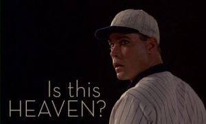 "Ray Liotta as Shoeless Joe Jackson in ""Field of Dreams"". Picture from: https://www.pinterest.com/pin/268738302735105908/"